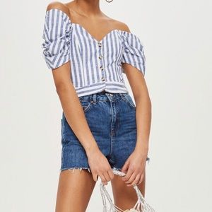 Topshop Authentic Mom Jean Shorts US 2 UK 6